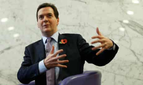 Chancellor of the Exchequer George Osborne speaks at the Royal Society