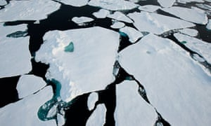 Arctic Ocean from a helicopter launched off the Greenpeace MY Arctic Sunrise