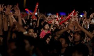 MDG : Myanmar or Burma : concert aimed at raising awareness of human trafficking, in Yangon