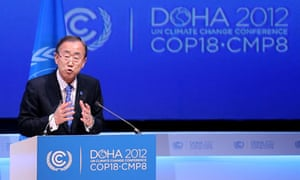 COP18 Doha : United Nations Secretary General Ban Ki-moon