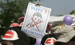 MDG : FGM : demonstration against female genital mutilation