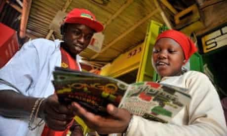 MDG : Comic book Shujaaz.fm in Nairolbi, Kenya