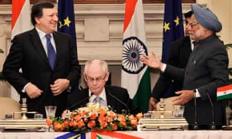 MDG : EU-India Free Trade Agreement (FTA) Manmohan Singh, Jose Manuel Barroso, Herman Van Rompuy