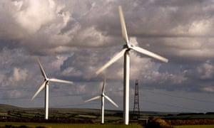 Wind turbines in Cornwall