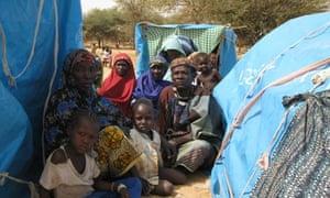 MDG : A Malian refugee in Niger, near border with Mali