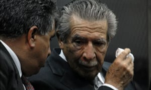 MDG : Guatemalan fundamentalist Christian General Efrain Rios Montt