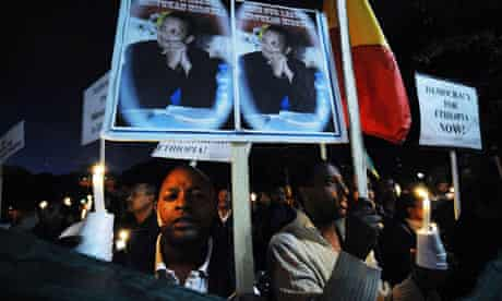 MDG : Human rights in Ethiopia : Protest in Washington for the release of all politican prisoners