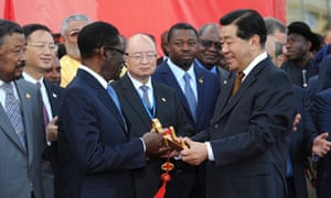 MDG: China in Africa :  Jia Qinglin at inauguration ceremony of the new AU conference