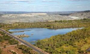 uranium ore stockpile, Ranger Uranium Mine, Kakadu National Park, Northern Territory, Australia