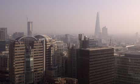 Pollution haze over London