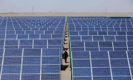 China solar energy :  Largest Photovoltaic On-grid Power Project Is Under Construction in Gansu