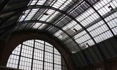 Solar panel on the roof of King's Cross Train Shed