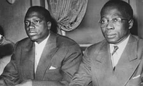 MDG : Mali first president Modibo Keita and  Senegal president Leopold Sedar Senghor