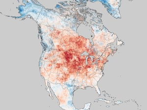 Historic Heat in North America in March 2012 : land surface temperature anomalies