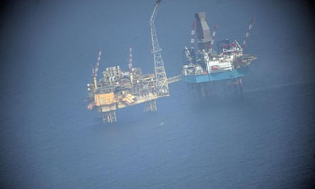 Gas leak: Total Elgin Platform in the North Sea