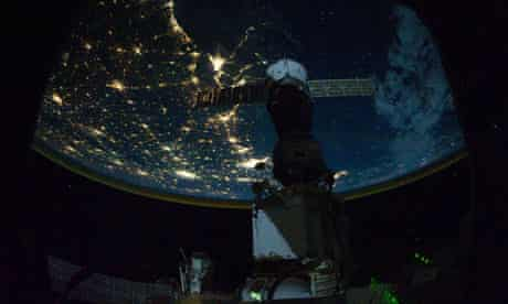 Earth hour from the International Space Station