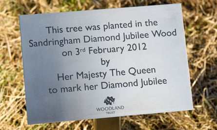 Jubilee Wood project by Woodland trust : Queen Elizabeth Plant Trees At Sandringham