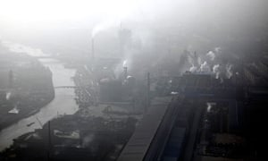 consumption and emissions  : Pollution over an industrial area of Huaxi in Jiangsu province , China