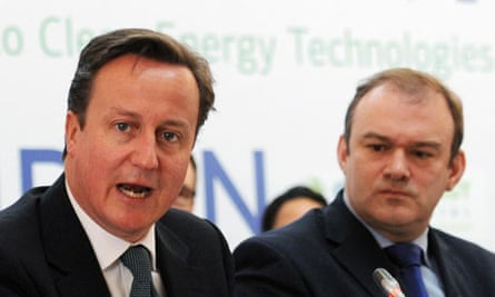 David Cameron and Ed Davey during Clean Energy Ministerial Conference