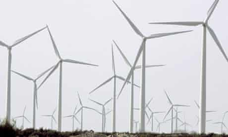 Wind energy : Wind turbines are seen at the Horse Hollow Wind Energy Project in West Texas