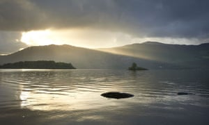 Green Shoots about green space your treasure : View over Derwentwater, Lake District, Cumbria.