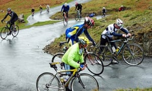 Country Diary : Fred Whitton riders tackle the hairpins of Hardknott Pass