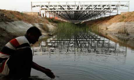MDG : Renewable Energy : canal-top solar power part of Sardar Sarovar Project in India