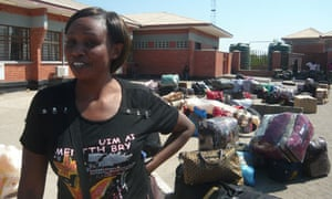 MDG : Zambia : Business woman Violette trading clothes from South Africa to Zambia
