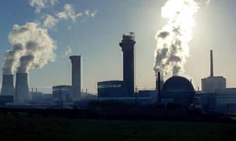 Sellafield nuclear power station in Cumbria.