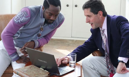 Myles Allen and Will.i.am  talking about climate change and the weatherathome project
