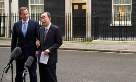 MDG : David Cameron with Ban Ki-moon