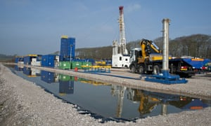 Cuadrilla shale gas drilling rig is set up for 'fracking', Weeton, Blackpool