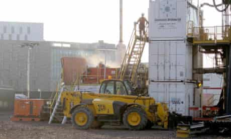 Geothermal energy : Construction site of new Newcastle University buildings