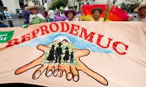 MDG : Peru : protest against the mining project Conga, belonging to U.S. giant Newmont