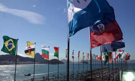 MDG : Rio+20 : flags of participating countries