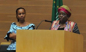 MDG : AU : Newly elected African Union Commission chairman Nkosazana Dlamini-Zuma with Jean Ping