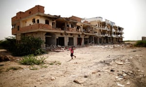 MDG : Yemen : buildings destroyed during fighting between the army and al Qaeda-linked militants