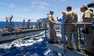 Biofuel US Navy Great Green Fleet with Navy Secretary Ray Mabus