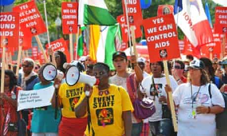 MDG : AIDS march and rally on the streets of Washington