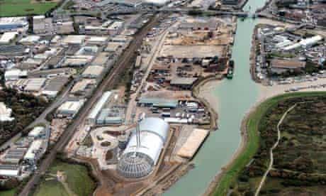Newhaven incinerator in East Sussex , waste incinerator