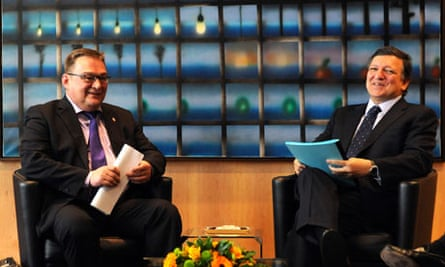 UE  Jose Manuel Barroso with Greenland Prime Minister Kuupik Kleist