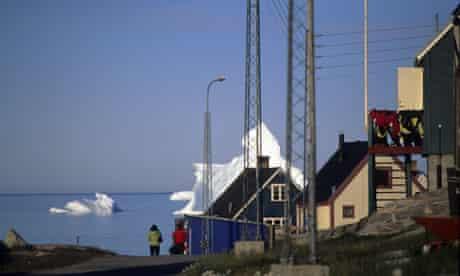 The Town And The Icebergs, Qeqertarsuaq, Disko Island, Greenland
