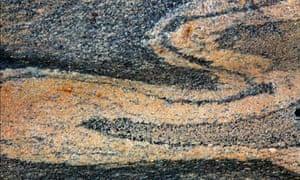 Detail of basalt, a volcanic rock found on Heart mountain, Uummannaq, North-Greenland, Greenland