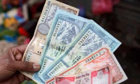 MDG : Nepal : Nepalese rupee bank notes