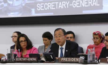MDG : Secretary-General Ban Ki-moon briefs the General Assembly