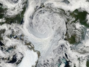 Summer Storm Spins Over Arctic