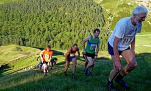 Country Diary : Fell runners attack the annual evening fell race up Steel Fell