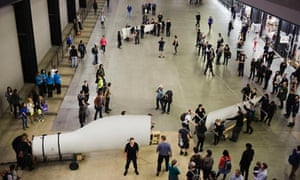 The Gift performance, blade of a wind turbine, by Liberate Tate at Tate Modern