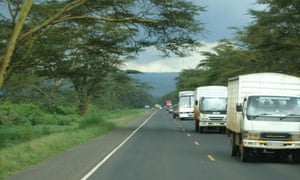 MDG : Road safety in Zambia : Busy road
