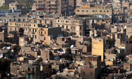 MDG : Egypt : View showing overcrowded housing in central Cairo
